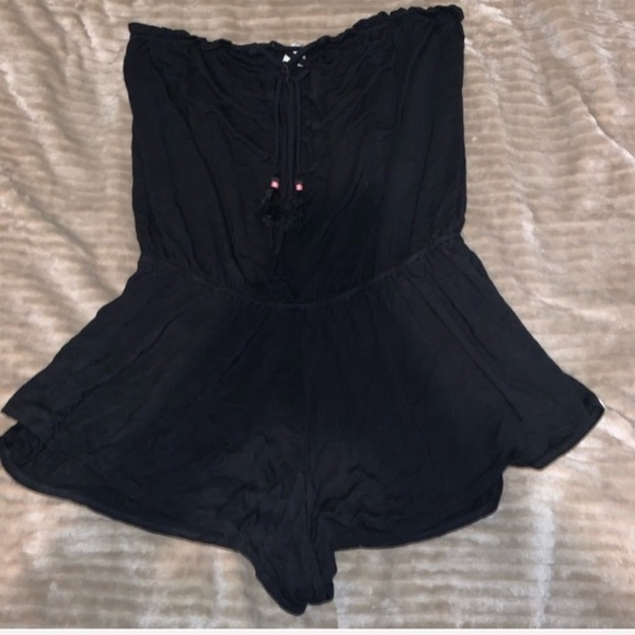 Aeropostale Other - black strapless romper cross string